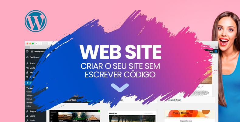 criar um site em wordpress