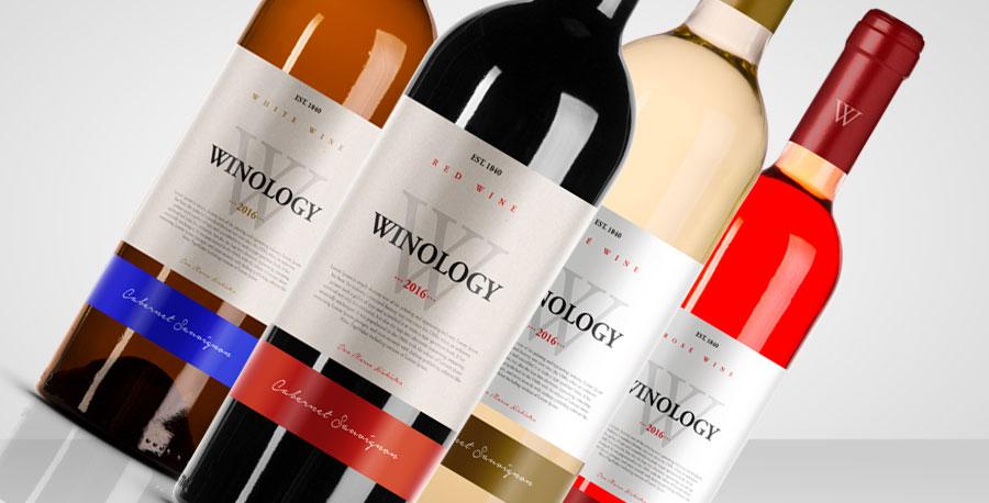 mockup rótulos vinho